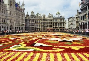 Flower carpet in Brussels Grande Place