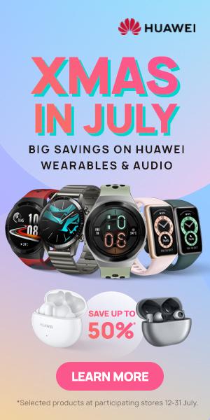 Huawei Christmas in July banner Sidebar